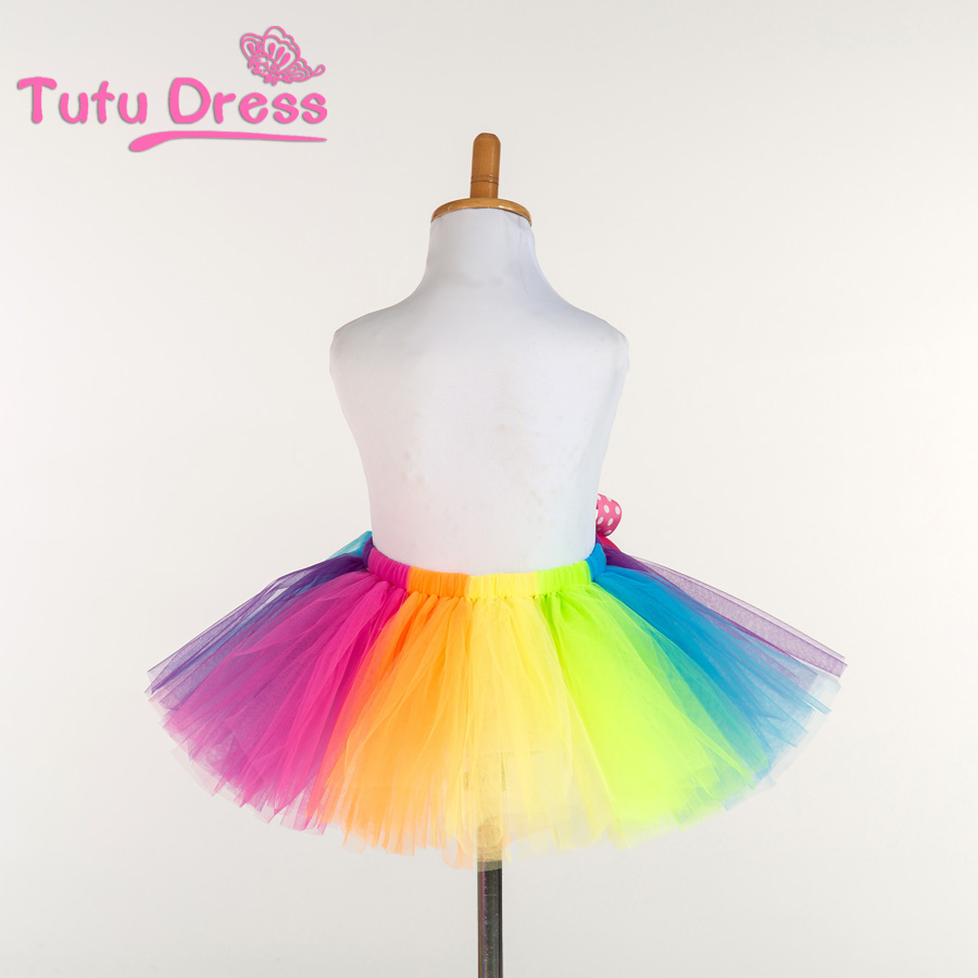 New Fluffy Handmade Rainbow Tutu Skirt Colorful Cheap Girl Dance In Skirts From Mother Kids On Aliexpress