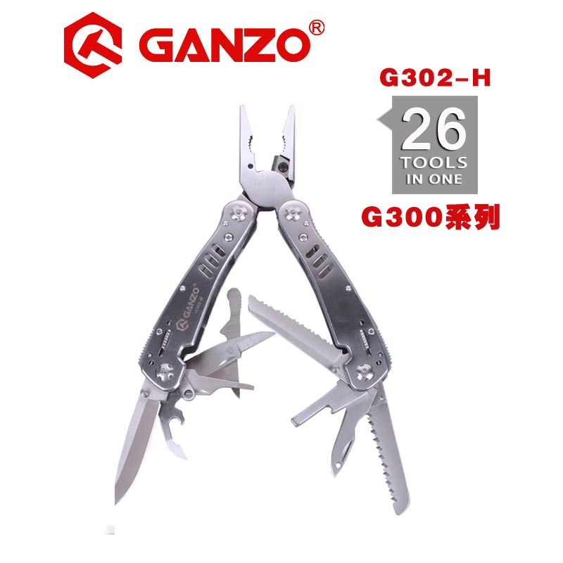 Ganzo G300 series G302H G302-H Multi pliers 26 Tool in One Hand Tool Set Screwdriver Kit Portable Folding Knife Stainless pliers
