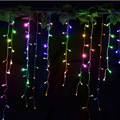 EU Plug 220V 3M Curtain Icicle String Light 150 LEDs Decorative Lamp Christmas New Year Wedding Party Decorative Outdoor Lights
