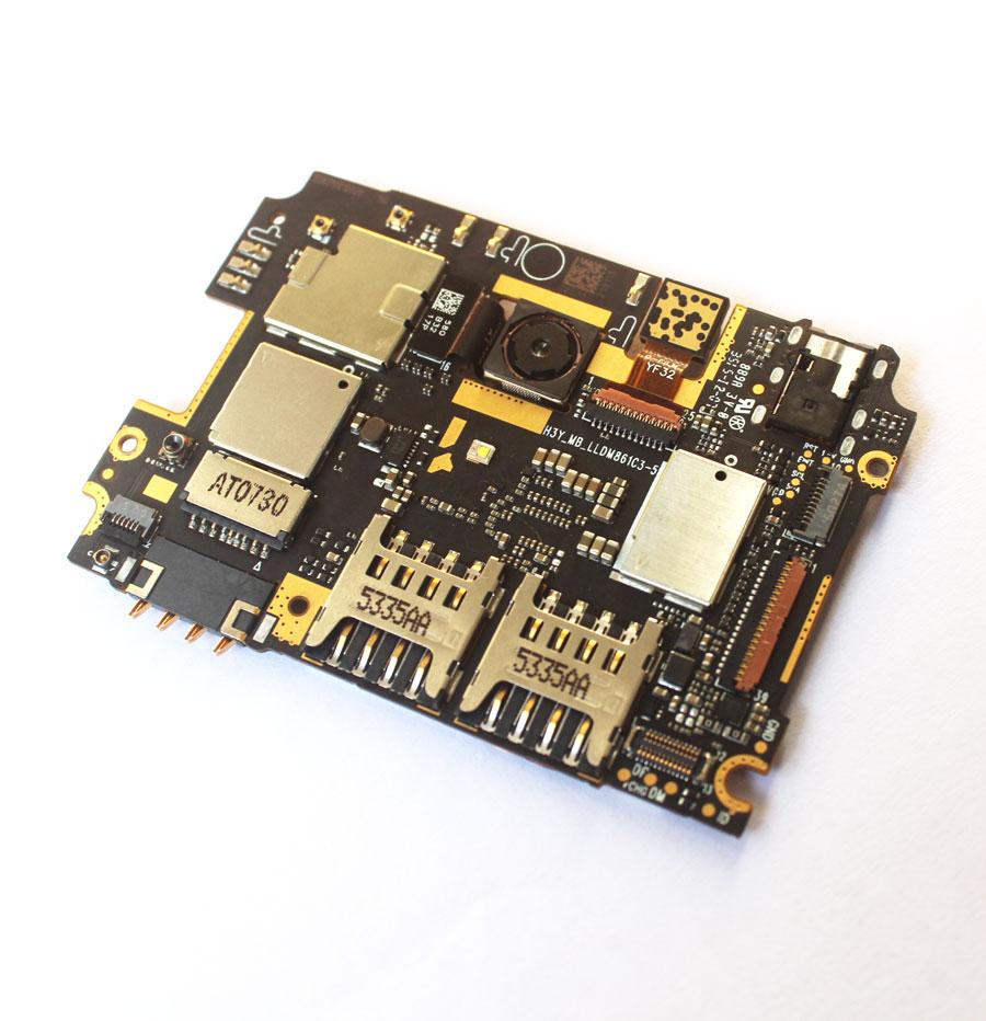 Ymitn Mobile Électronique panneau carte mère Carte Mère débloqué avec puces Circuits flex Câble Pour Xiaomi RedMi hongmi Note 2