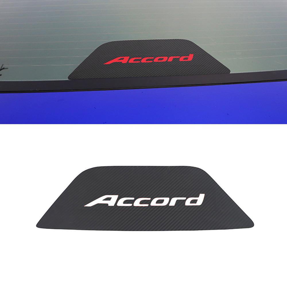Carbon Fiber Texture Rear Brake Tail Light Cover Sticker Body Decal For Honda Accord 2018 2019 2020 Accessories Car-Styling