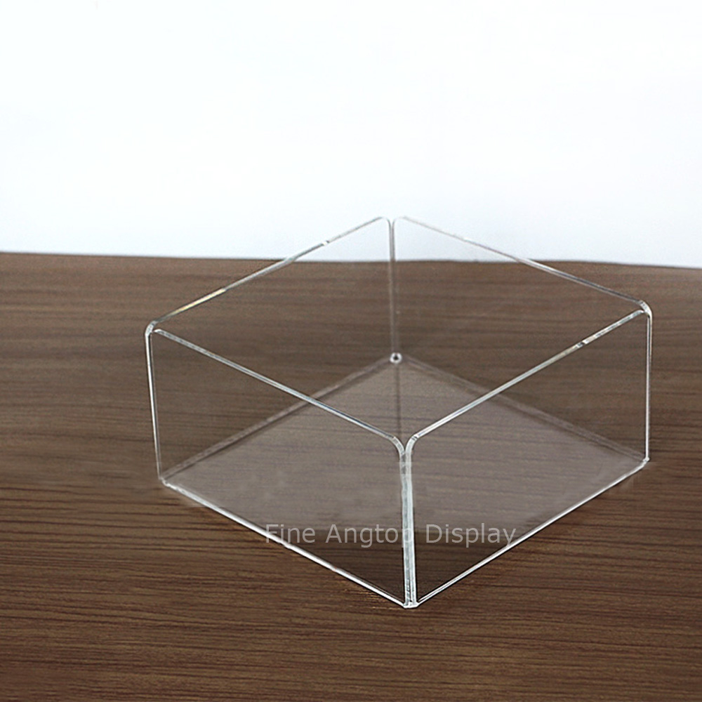 Acrylic Bending Cosmetic Makeup Organizer Clear Display Tray Jewelry Necklace Bracelets Earrings Storage Holder clear acrylic jewelry cosmetic storage display box necklace bracelets gift boxes