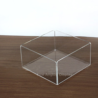 Acrylic Bending Cosmetic Makeup Organizer Clear Display Tray Jewelry Necklace Bracelets Earrings Storage Holder