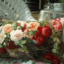 Sofa Throw Pillowcase Cushions-Covers Decorative Floral-Flowers Velvet Beautiful