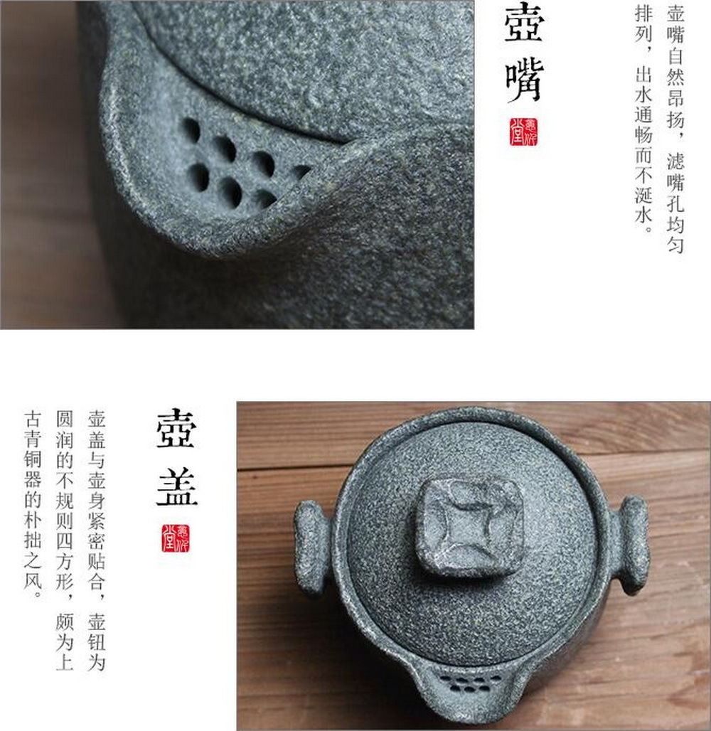 Чай Gongfu из гранодиорита ручной работы, гайвань с фильтром заварочный чайник 150 мл - 4