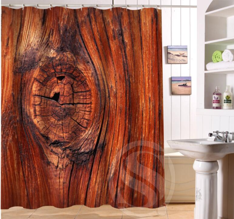 Detail Feedback Questions About Old Wood Custom Shower Curtain Polyester Fabric Printing Bathroom Waterproof With Hook Bath Gift 180X180CM