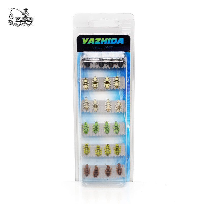 Wet Nymph Fly Fishing Flies Set 24 Pcs Fly Tying Kit Lure 12# 14# 16# Patterns Fishing Assortment Rainbow Trout Flies FlyFishing