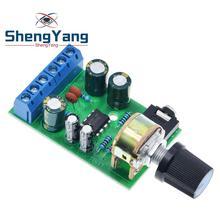 ShengYang Mini DC 3.7 ~ 12V 5V TDA2822M 2.0 CH Stereo moc dźwięku płyta wzmacniacza 3.5mm AUX