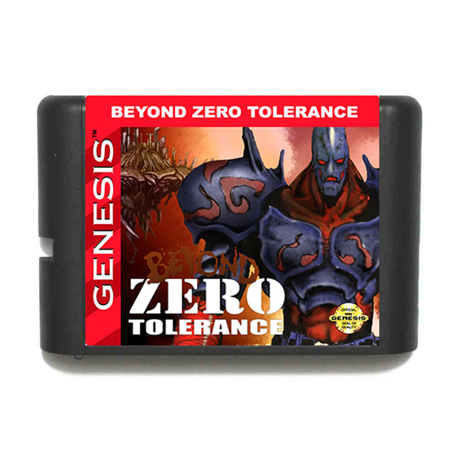 Beyond Zero Tolerance Sega Mega Drive For Genesis