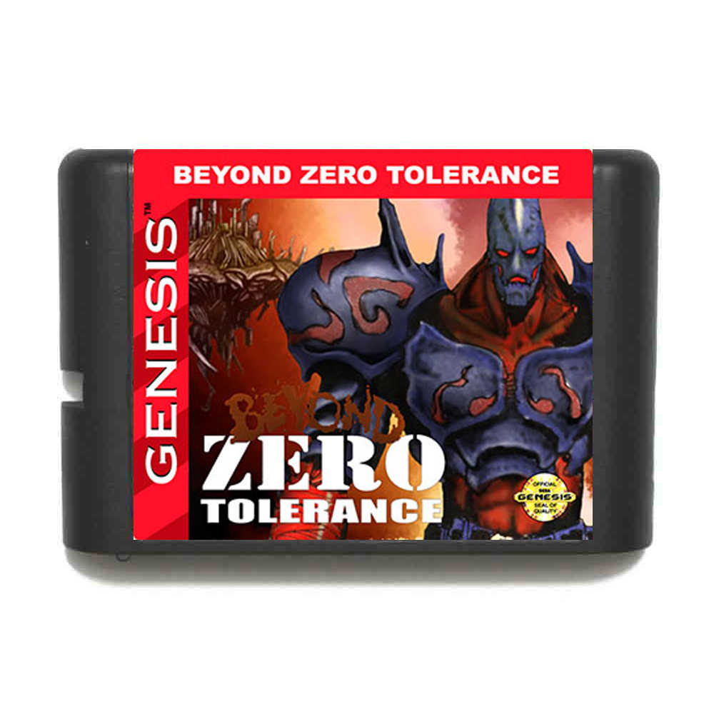 Beyond Zero Tolerance  16 bit MD Game Card For Sega Mega Drive For Genesis