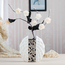 High quarity European Modern Fashion Ceramic Flower Vase fashion home wedding decoration creative TV desk accessories crafts