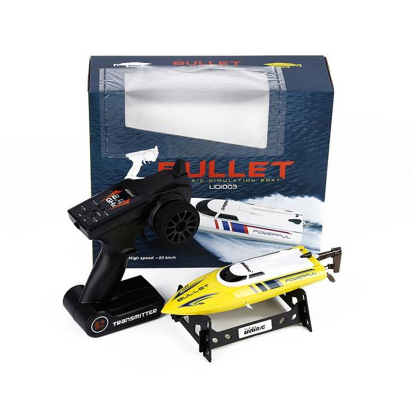ФОТО  Yellow 2.4G Boat RC 30KM/H Racing Boat Speedboat Controller for UDI003 High Quality Dropshipping Free Shipping M4
