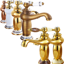 Luxury Design Bathroom Short Brass Hot and Cold Tap Single Lever Basin Deck Mounted Faucet Free