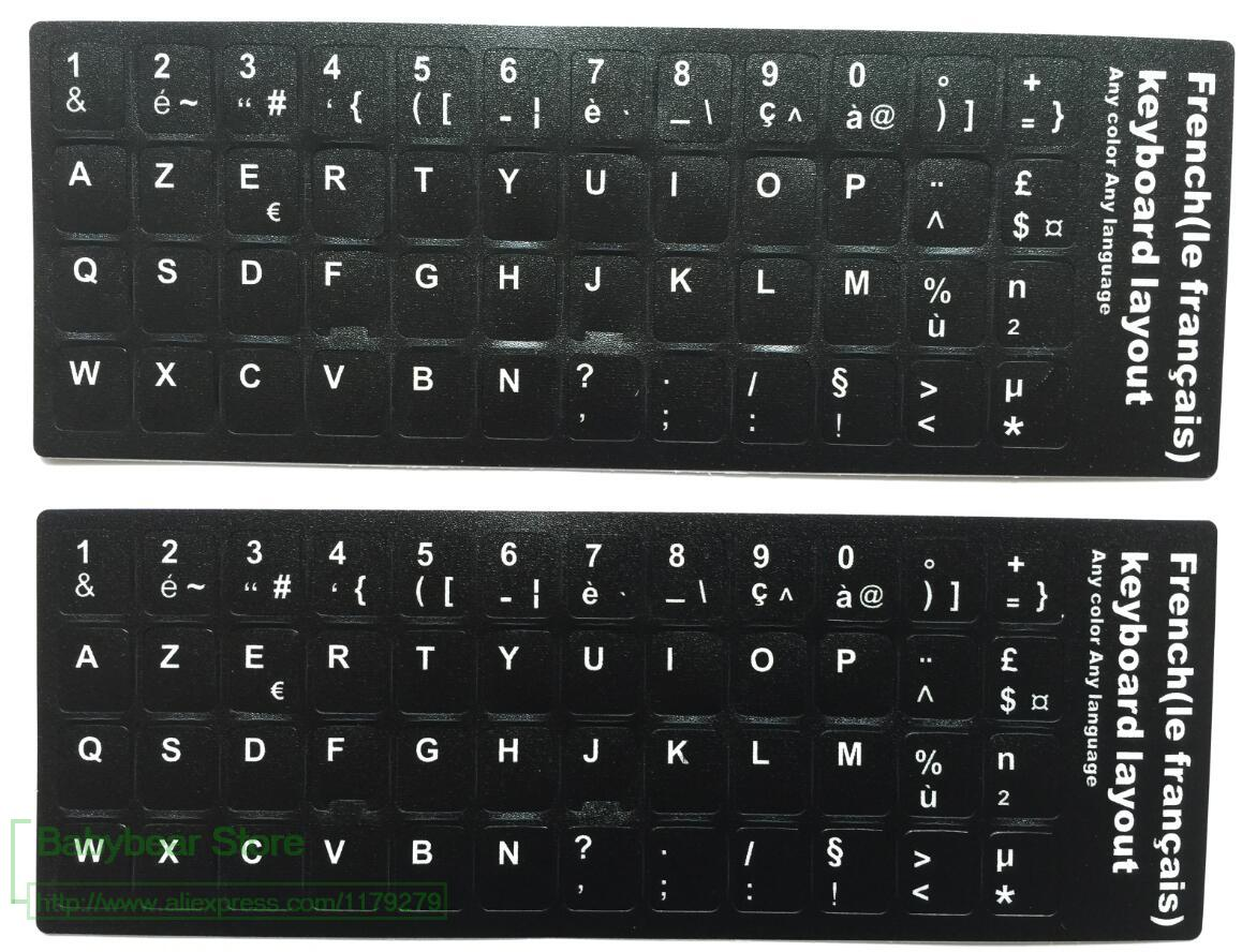 English US Keyboard Fluorescent Sticker Large Letters for Computer Laptop /_DM