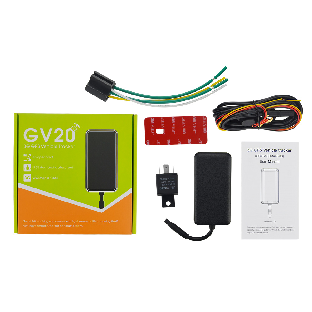 3G Vehicle Car GPS Tracker GV20 With 9-36V Concox Original GPS Locator With Google Map Tracksolid Server Cut Off Power Remotely