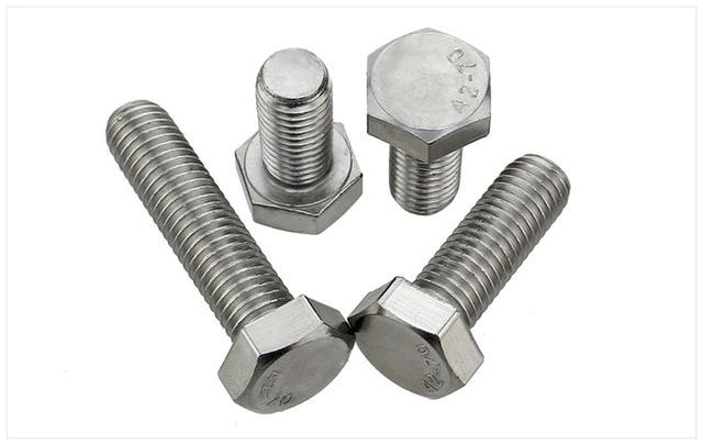Din933 304 tornillos de acero inoxidable rosca inversa for Tornillos acero inoxidable