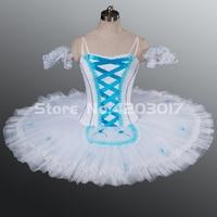 Взрослый белый Лебединое озеро профессиональная балетная пачка белый кружева Крестьянская балетное платье танцевальные костюмы балерины