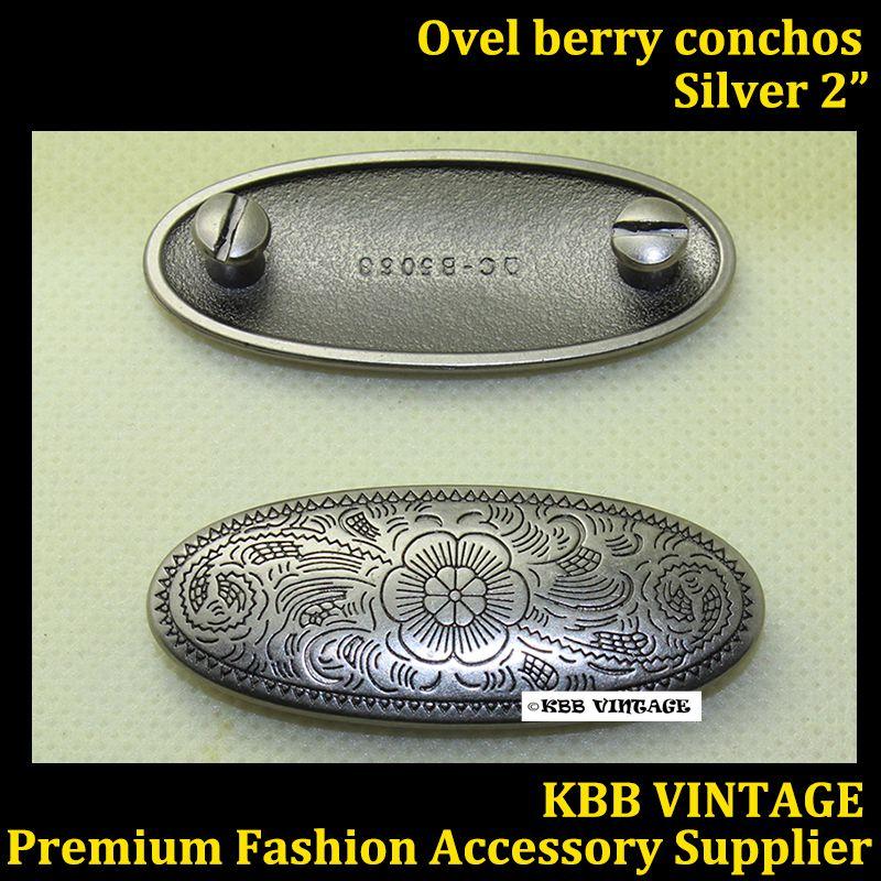 """Antique Silver Mini Western Berry Concho 3//4/"""""""