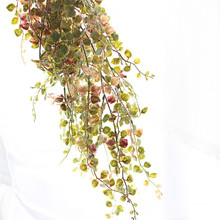Artificial plant gold and silver leaf artificial flowers long vine green home decoration wedding flower wall fake