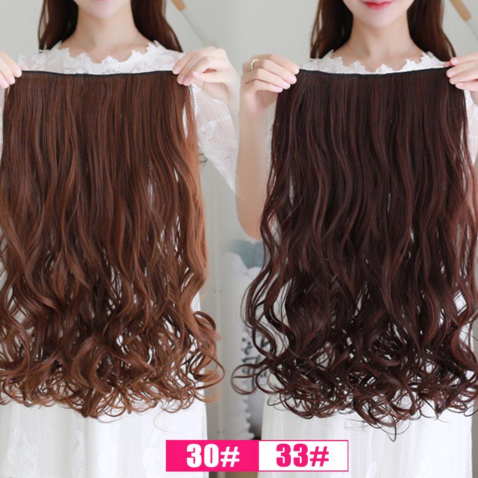 AOSIWIG Olika storlekar Långt vågigt 5 Klipp i hårförlängningar - Syntetiskt hår - Foto 5