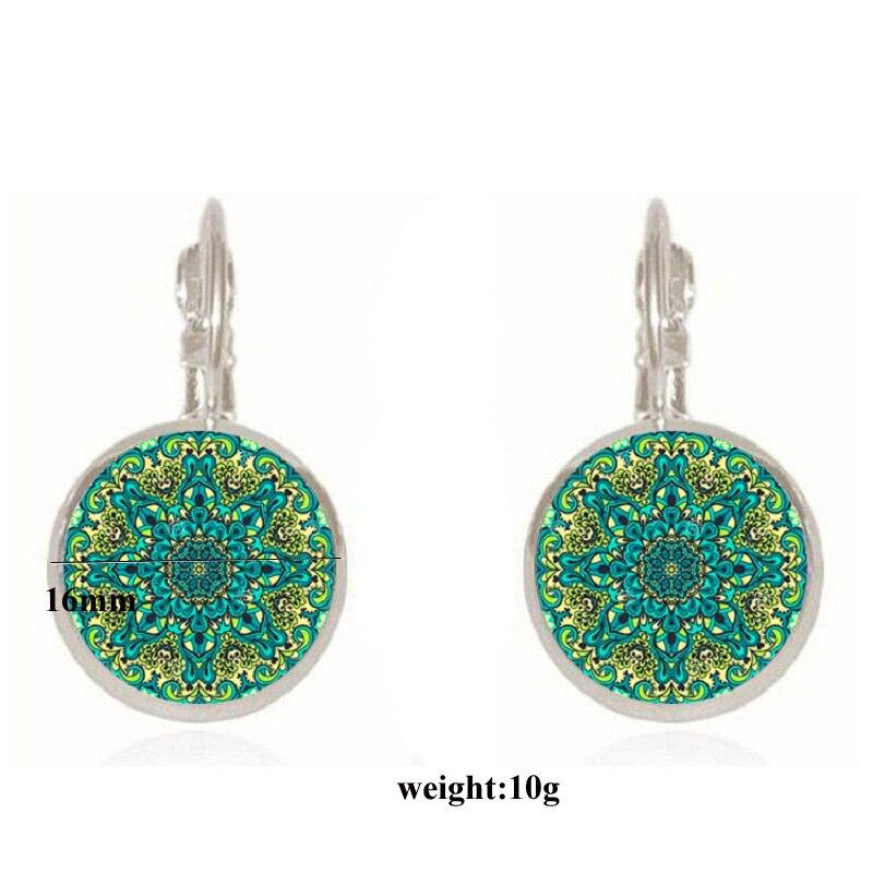 Exknl Boho Flower Drop Earrings For Women Vintage Jewelry Geometric Pattern Round Earings Bijoux boucles d'oreilles bohemia 2