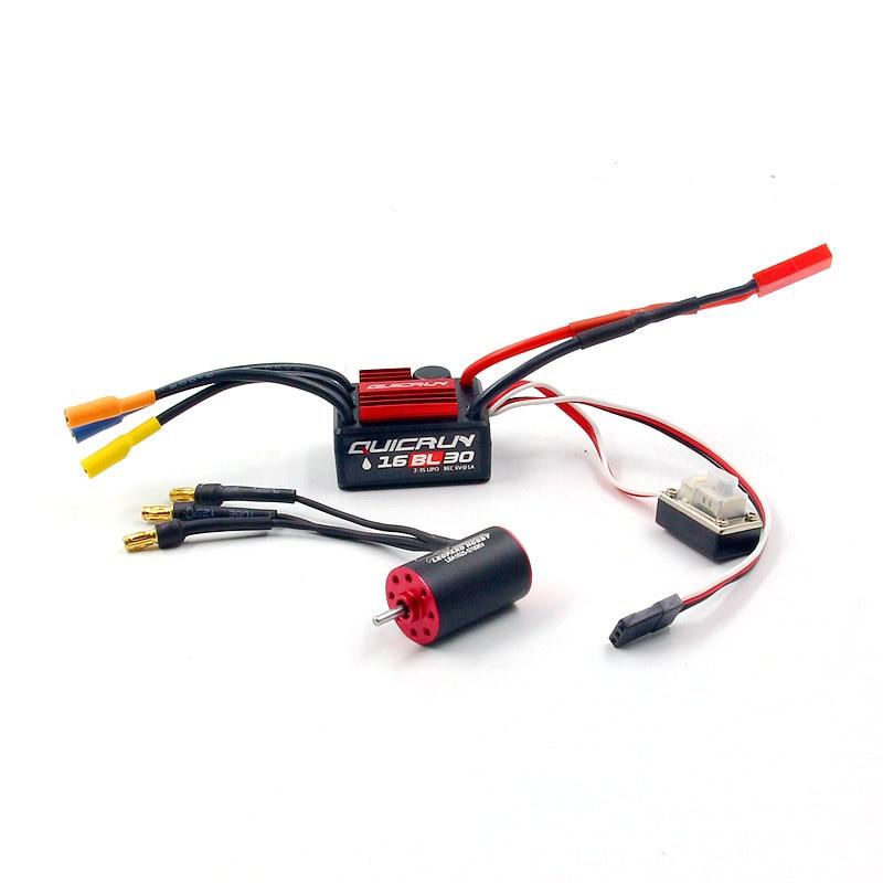 leopard 1625 motor LBA1625 hobbywing quicrun WP 16BL30 30A ESC combo for RC 1 28 mini
