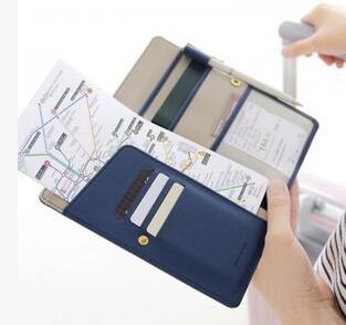 anti skimming Passport Wallet Multifunction  Card Package ID Holder Travel Clutch Bag for women vintage recorder passport set 3d stereo document card пакет як падарунак для жанчын