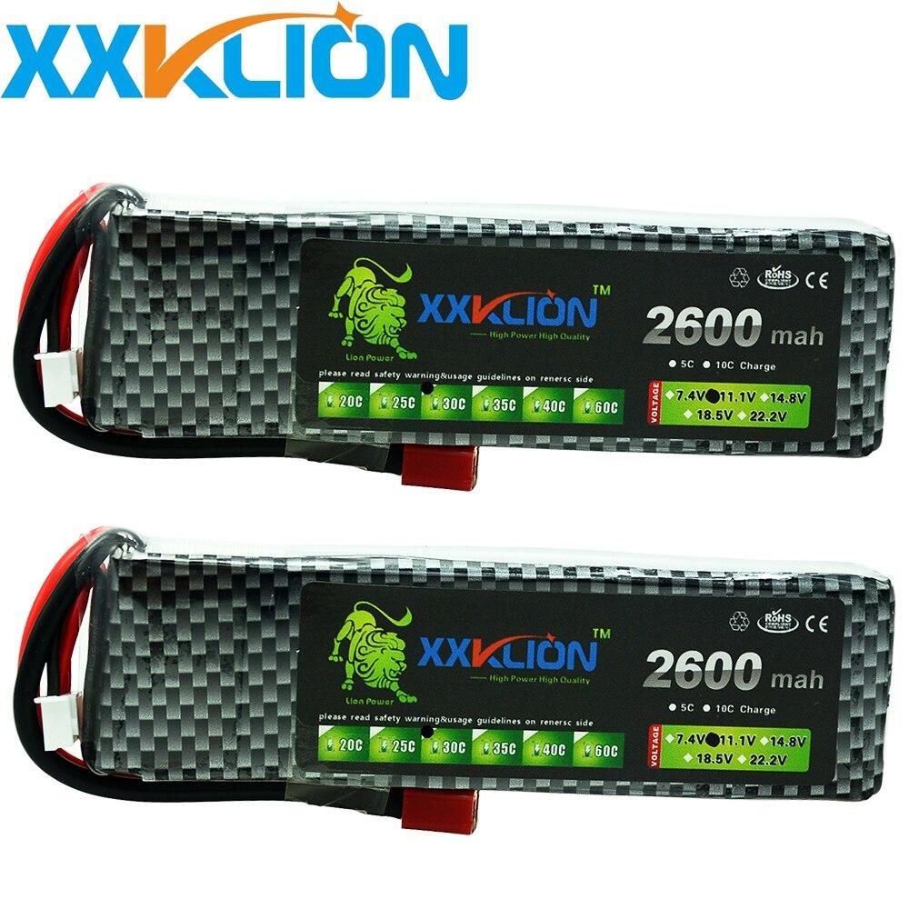 2 pièces XXKLION 3 s Lipo batterie 11.1 v 2600 mah 25C 30c 35C ou Rc hélicoptère voiture quatre axes li-polymère Batteries Lipo livraison gratuite