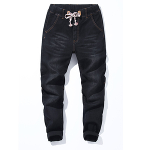 Image 3 - 2018 jesień nowe męskie Plus Size dżinsy moda Casual Hip Hop luźny dżins dżinsy czarne niebieskie spodnie Harem spodnie 5XL 6XL 7XL