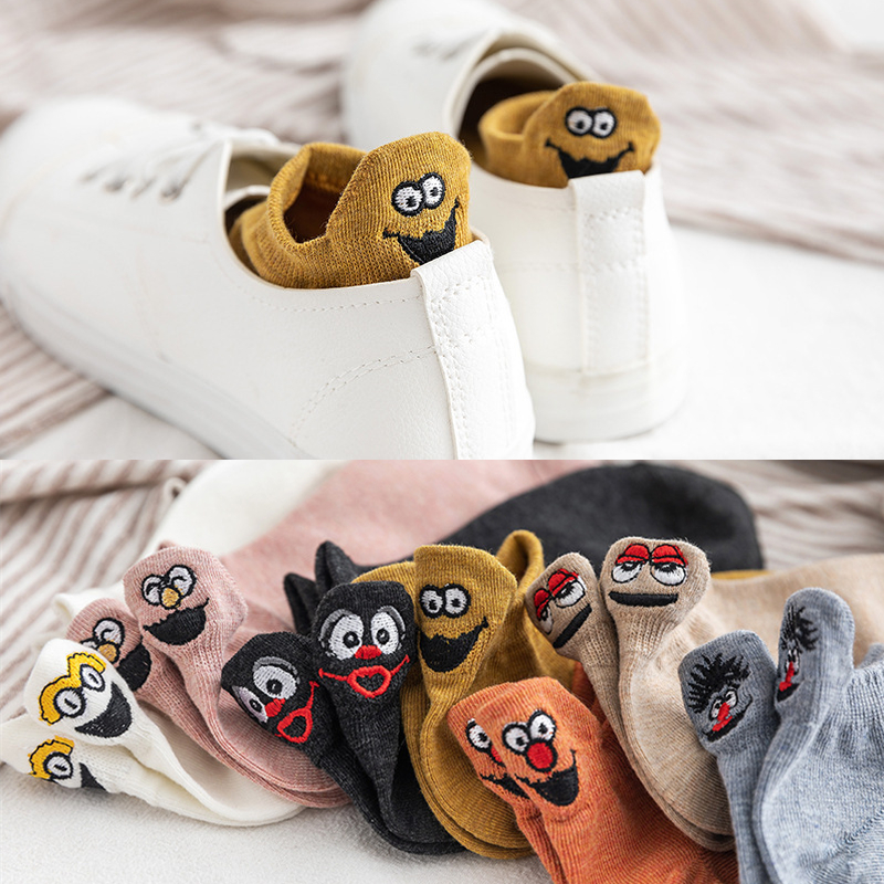 Women Socks 1 Pair 2019 Summer New Fashion Cute Ankle Socks Girls Cotton Colorful Novelty Women Fashion Cute Socks Lady