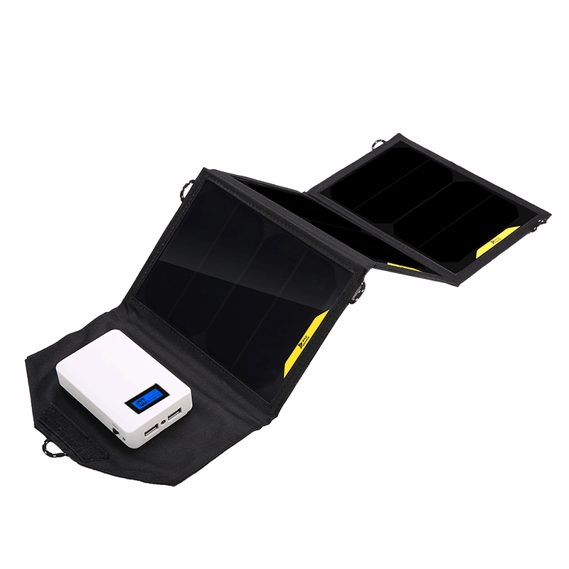 SunPower 21W Solar Panels Portable Folding Foldable Waterproof solar charger Power Bank for Battery Charger