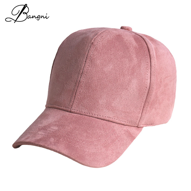 2017 Solid Baseball Cap Men Women Autumn Winter Gorras Dad Hat Snapback  Casquette Black Pink Hats Suede Cap Trucker Cap a889b8b2188