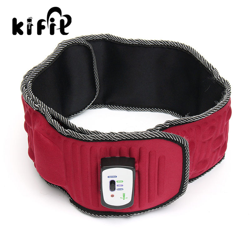 KIFIT Modern Lose Weight Fitness Electric Massage Belt Abdominal Tummy Slimming Belly Waist trainer Fat Burner Health Care Tool цена и фото
