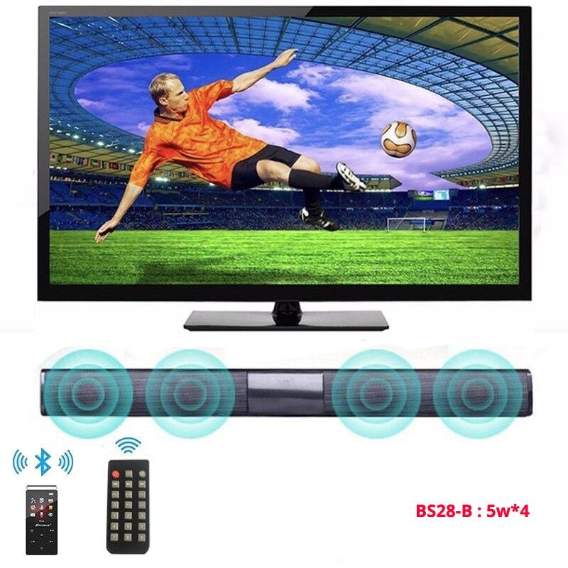 20W TV Soundbar Bluetooth speaker 10W FM Radio home theater system portable wireless subwoofer bass MP3 Music boombox for xiaomi hiedra en el salón