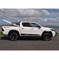 Free Shipping 2 PC Racing Styling Door Body Side Stripe Graphic Vinyl Car Sticker For TOYOTA