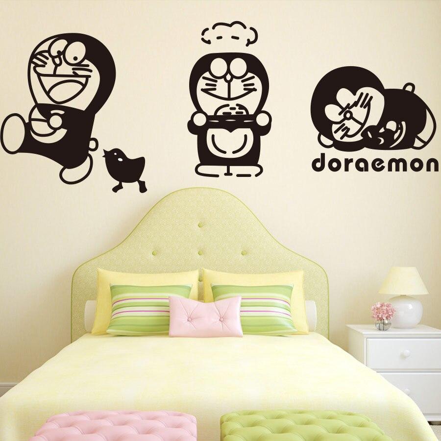 US $8 46 OFF KAMAR ANAK ANAK WALL S Masalah Home Decor Doraemon Kartun Vinyl Wall Stiker Dinding Decals Ukuran 56x142 Cm Sticker Wall Decal Wall