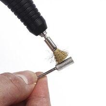 1 шт. Золотое сверло для ногтей, щетка для чистки, портативные инструменты для электрических маникюрных дрелей, медная Проводная дрель, очиститель бит
