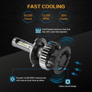 Image 3 - Zdatt H7 LED מנורת H4 LED H8 H9 H11 קרח מנורת H27 880 רכב אור 9005 HB3 LED פנסי 12000LM 100W 6000K 12V מכוניות מנורה