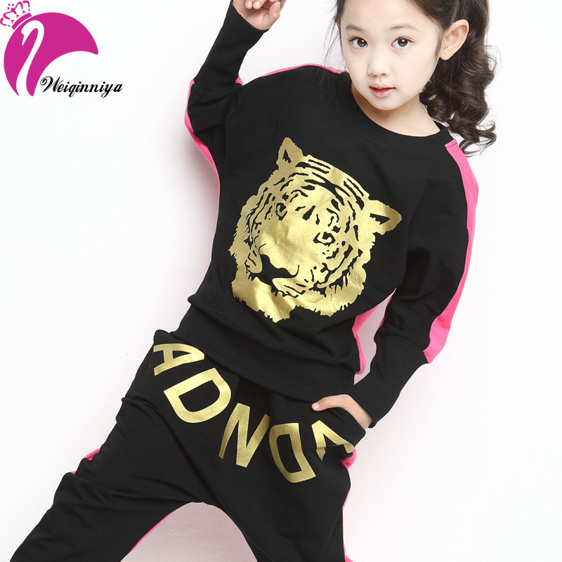 Girls Clothing Set Spring Autumn Cotton Character two-piece Sport Suit For Girl Letter Tracksuit For Girls Children Clothing Hot