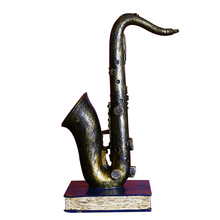 High Quality Retro Miniature Musical Instruments Resin Crafts Vintage Cube Horn Trumpet Model Instrument Home Decoration