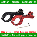 Gopro Mount Accessories Aluminum Go Pro Bike Motorcycle Holder Adapter Mount Handlebar 31.8mm For Gopro Camera Hero 4 3+ 3 2 Red