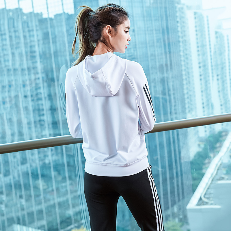 spring women sportswear tracksuit zip up hooded jacket sweatshirt+pants running jogging casual fitness gym outfit set sport suit 6