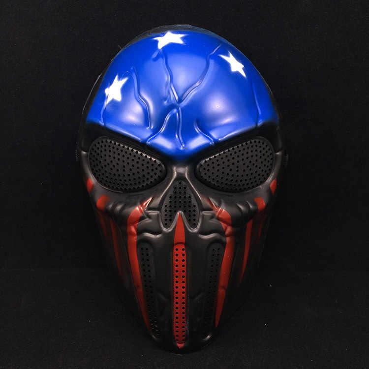 Halloween Captain America Capo Predator Skull Full Viso Maschere Maschere Realtà Film Horror Puntelli di Film A Tema Puntelli Del Partito di Alimentazione