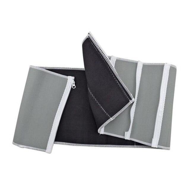 Adjustable Slimming Waist Belt Burn Belly Fitness Body Fat Cellulite Burner Shaper Men 5 Zippers Wrap Modeling Strap Corsets 4