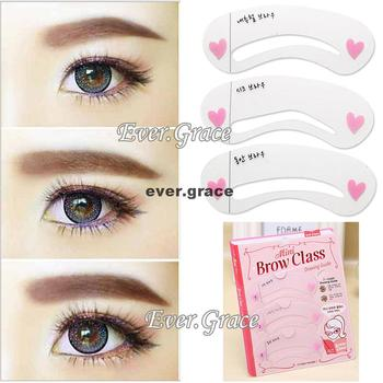 Styles Eyebrow Drawing Card Stencil Grooming Shapping Assistant Eye Brow Class