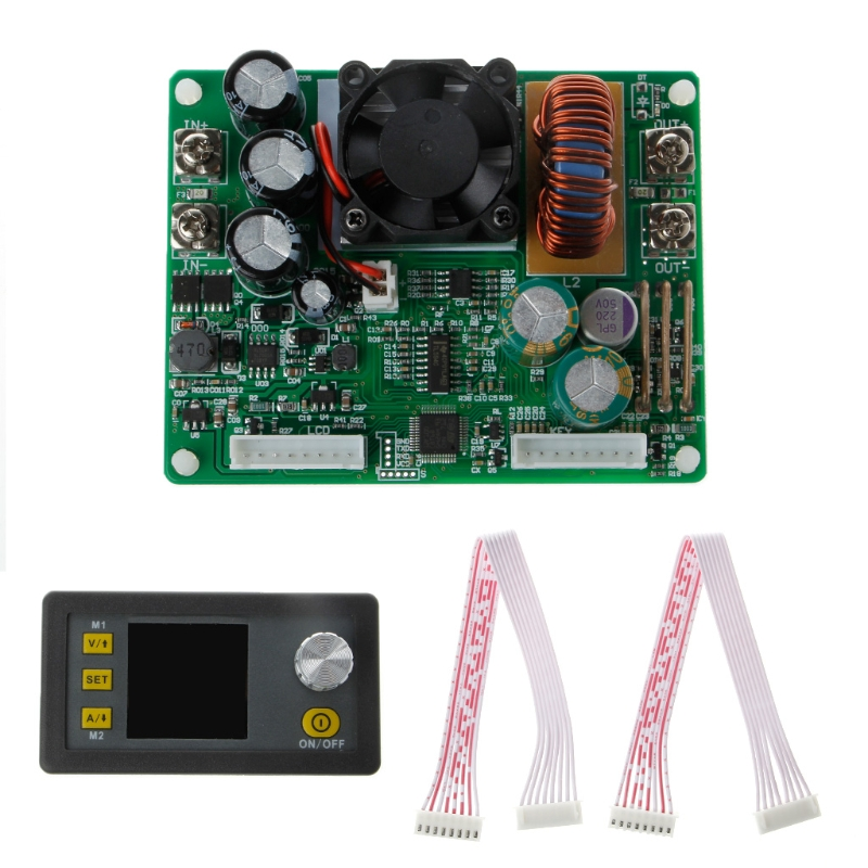 DPS3012 Adjustable Constant Voltage Step-down LCD Power Supply Module Voltmeter T15 dc dc step down power supply adjustable module with lcd display with housing case