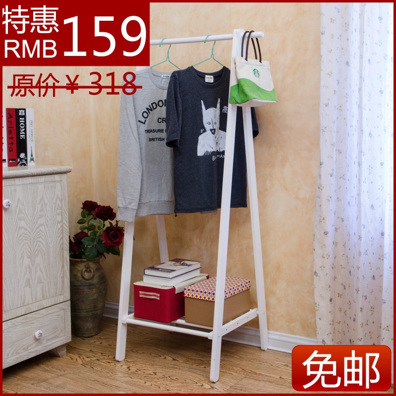 online shop creative interior wood floor wood coat rack hanger ikea korean fashion clothes rack partition shipping aliexpress mobile