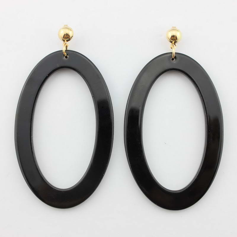 b56a02f1d98 8 Colors Acrylic Oval Drop Tortoise Earrings Light Weight Cut Out ...