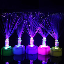 1PC Novelty Color Changing LED Fiber Optic Night Light Lamp Stand Decor Children Christmas Gift night lamp For Party(China)