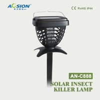 Aosion Outdoor/indoor Garden Solar anti mosquito insect fly killer lamp trap with LED night light